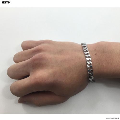 섹스토(SEXTO) [변색X]M-1 chain bracelet (silver)
