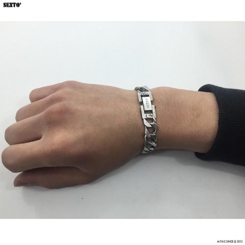 섹스토(SEXTO) [변색X]M-3 chain bracelet(vintage silver)