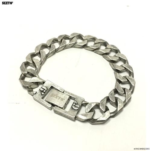 섹스토(SEXTO) [변색X]M-5 chain bracelet(vintage silver)