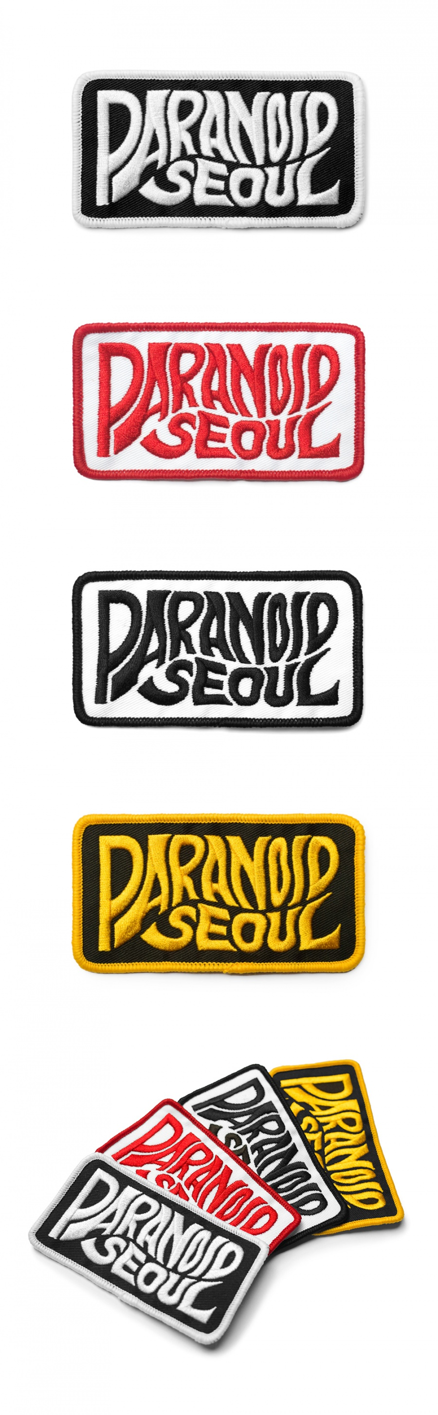 파라노이드(PARANOID) LOGO PATCH + STICKER SET