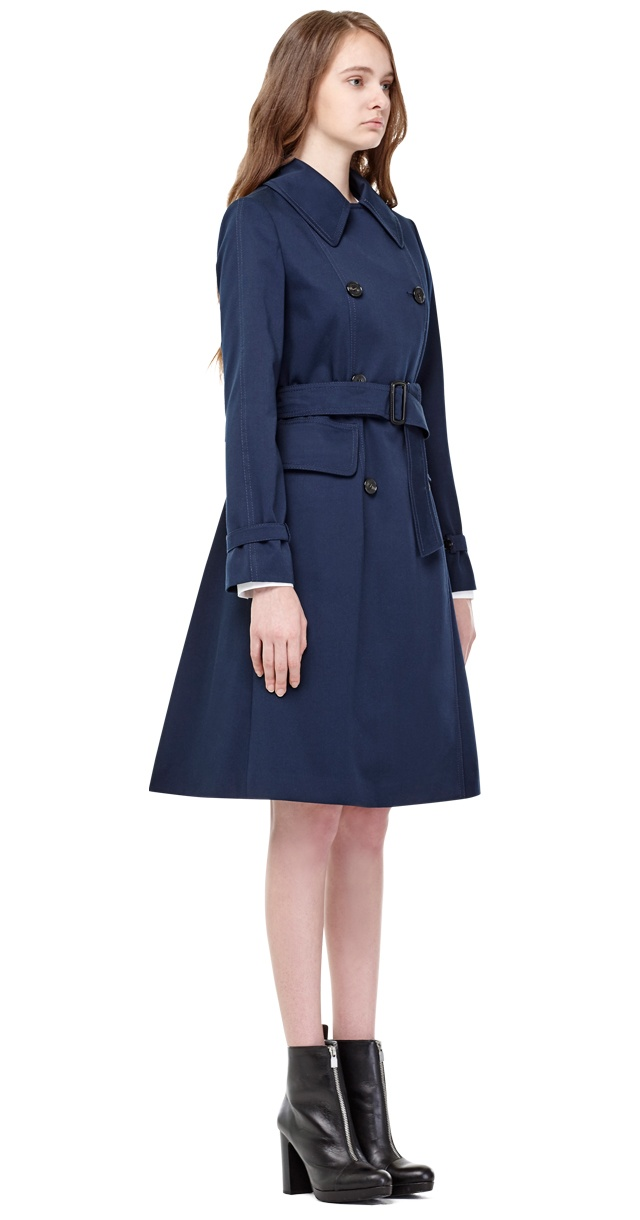 밀로그램(MILLOGREM) ficeler double breasted coat - navy