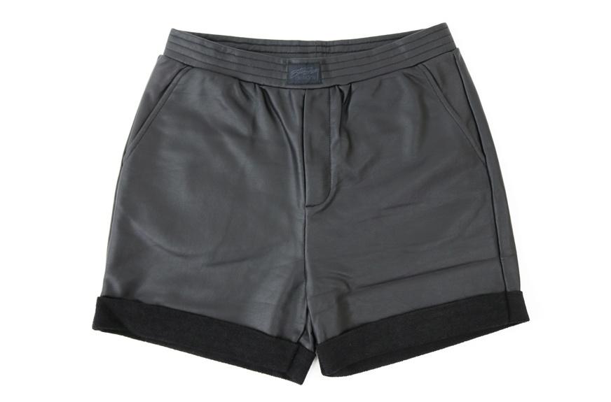 스투시(STUSSY) STUSSY WOMEN COATED PANTS (BLACK)
