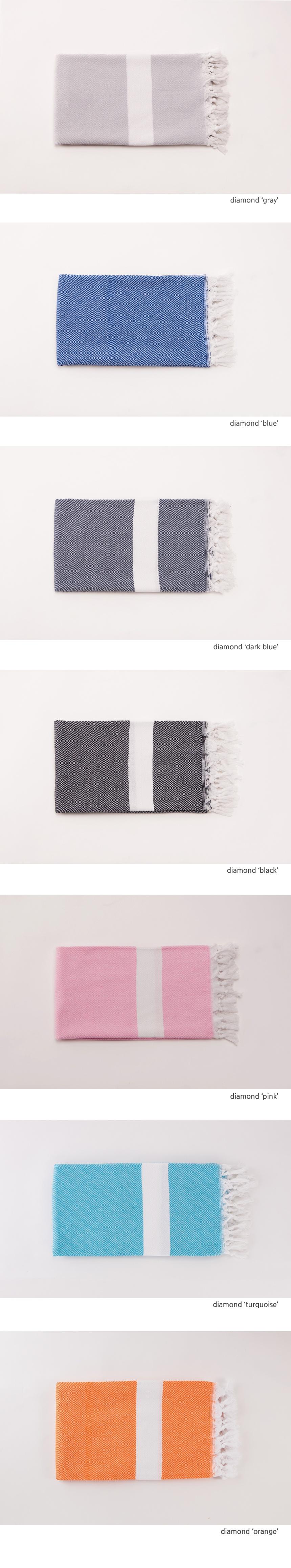 달(DAL) [樂.터키시 코튼 타월] 다이아몬드-오렌지