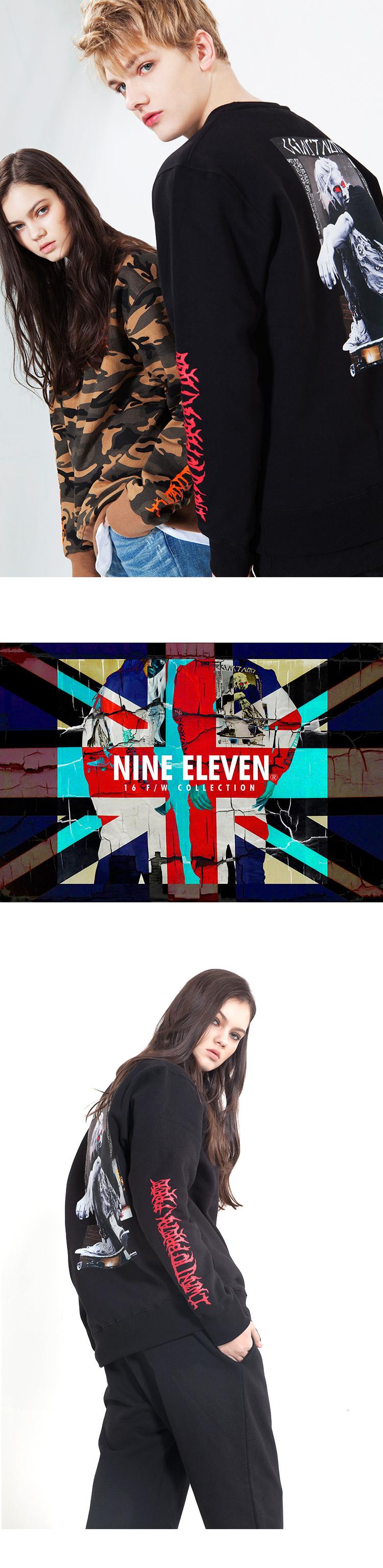 나인일레븐(NINE ELEVEN) 0911 BREAKFREE CREWNECK BLACK