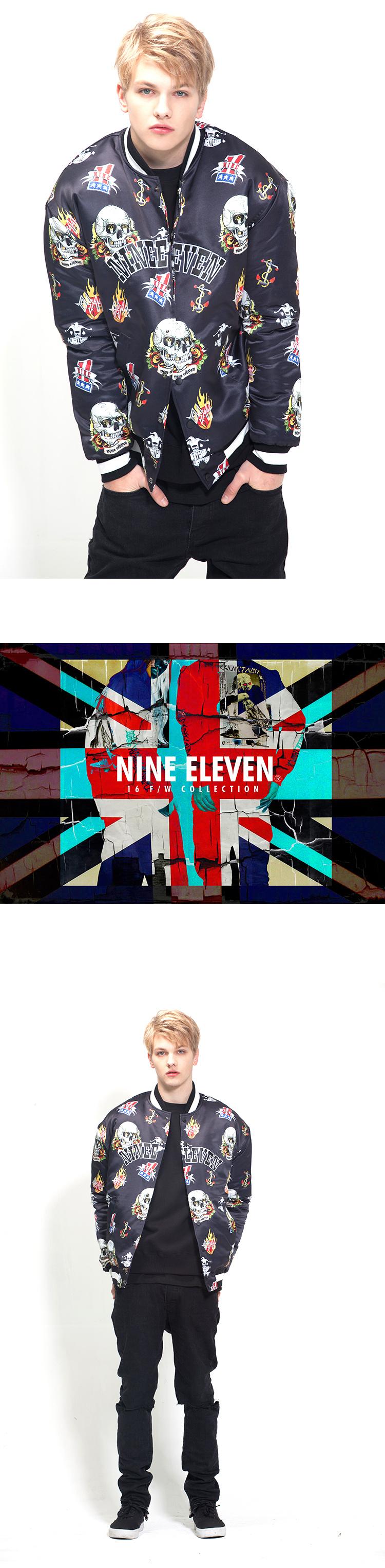 나인일레븐(NINE ELEVEN) 0911 TATOO PRINT STADIUM JACKET