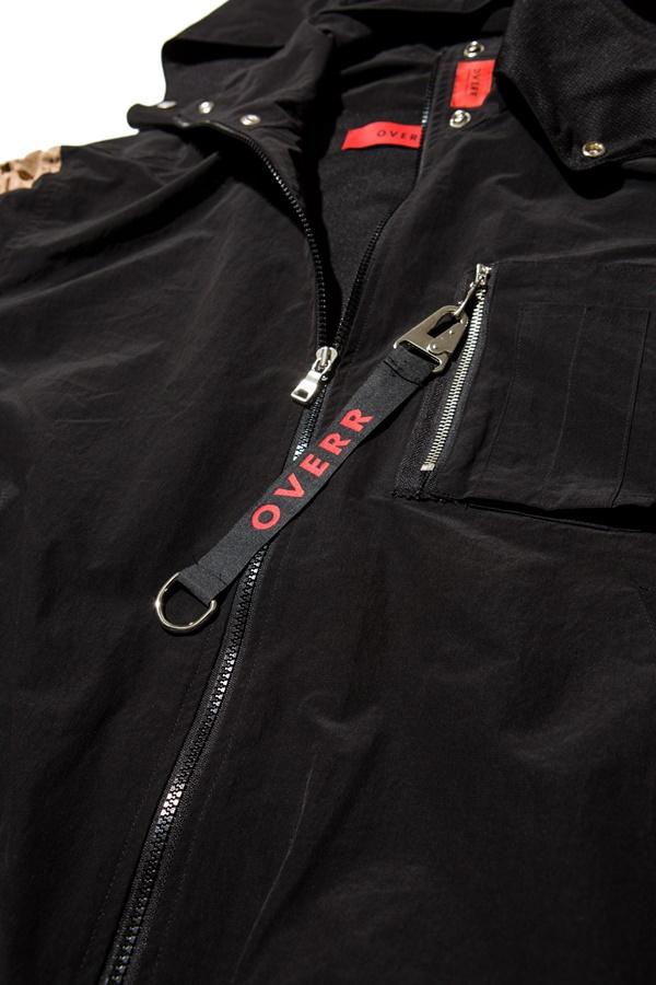 오베르(OVERR) 17S/S SHIRRING HOODIE BLACK JACKET