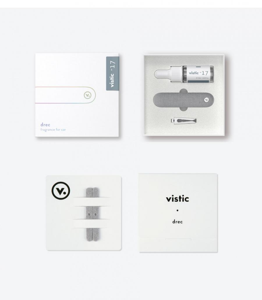 비스틱(VISTIC) 비스틱/차량용 방향제/통풍구타입/라이트블루/스웨이드
