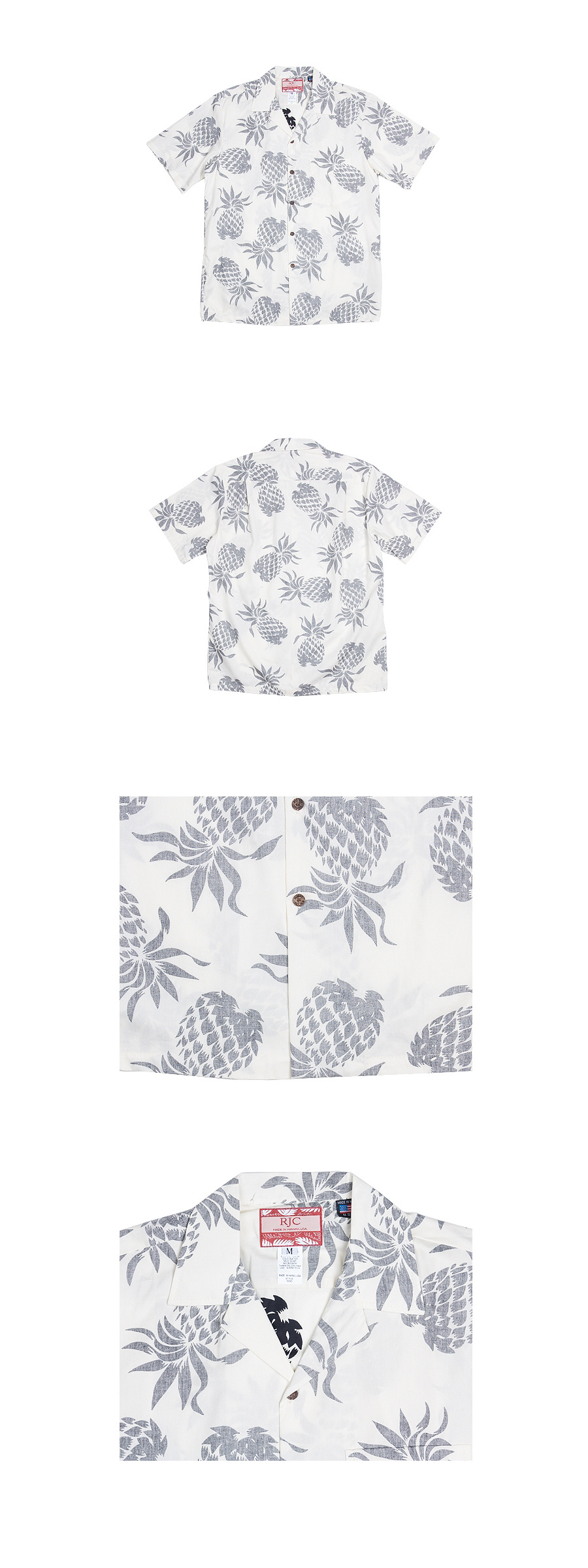로버트제이씨 하와이(ROBERT J.C HAWAII) 103C.087 Hawaii Shirts [White]