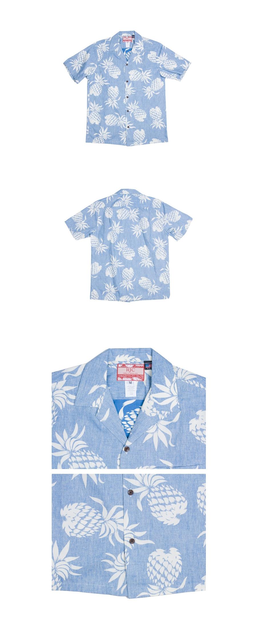 로버트제이씨 하와이(ROBERT J.C HAWAII) 103C.087 Hawaii Shirts [Blue]