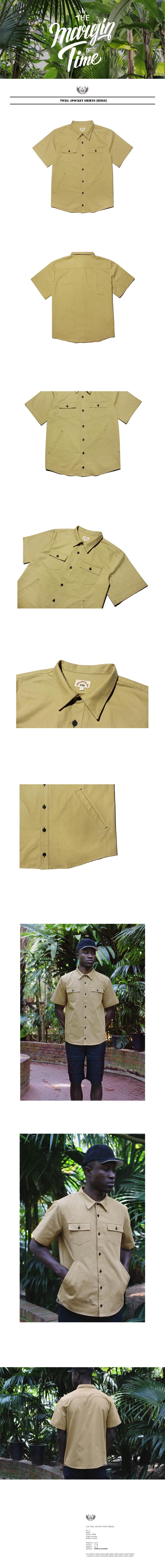 비디알(VDR) 트윌 4포켓 셔츠[베이지]
