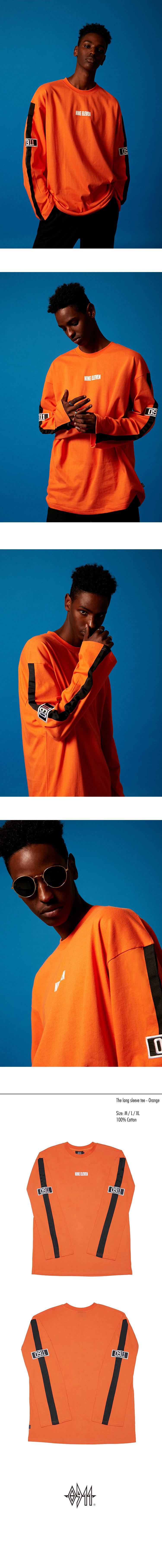 나인일레븐(NINE ELEVEN) The long sleeve tee - Orange
