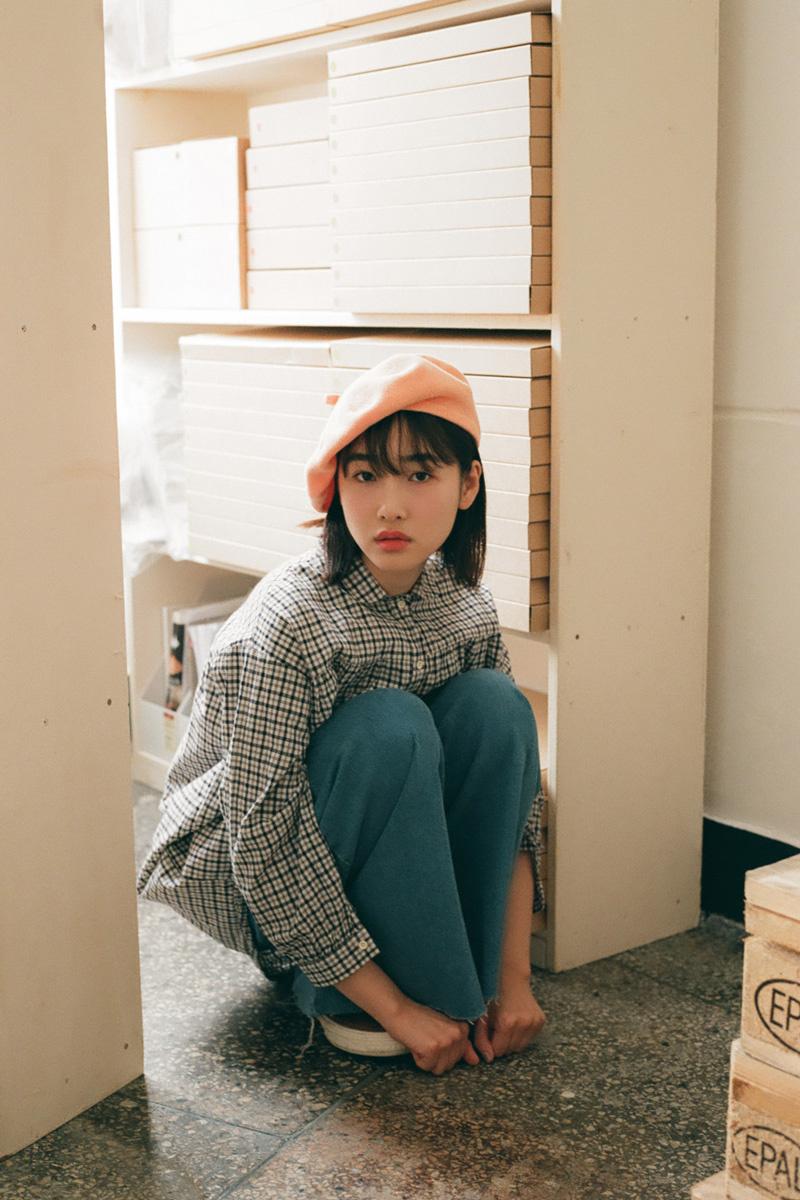 제이드골드나인(JADEGOLDNINE) 피치베레 (주황)