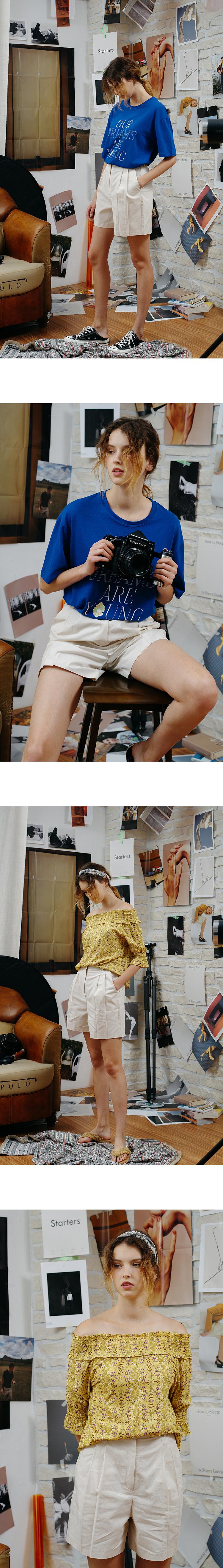 몬츠(MONTS) monts425 cotton half pants (beige)