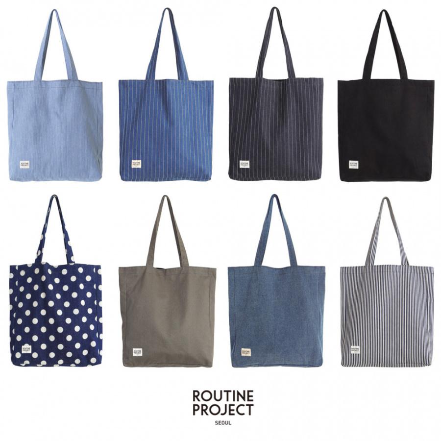 루틴 프로젝트(ROUTINE PROJECT) DENIM SHOULDER BAG/STRIPE DENIM[RSD-005]