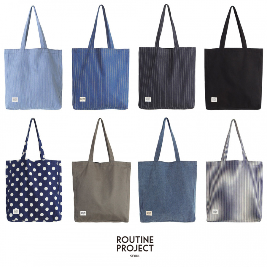 루틴 프로젝트(ROUTINE PROJECT) DENIM SHOULDER BAG/NAVY STRIPE[RSD-0012]