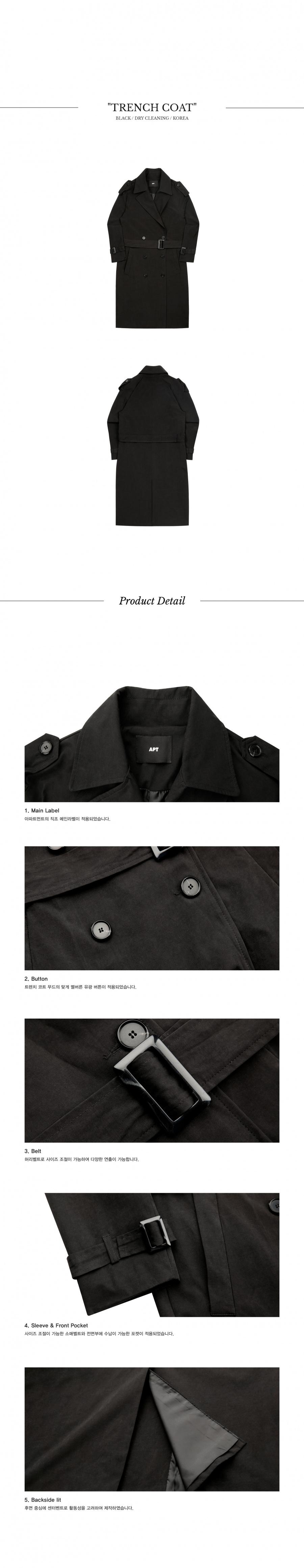 아파트먼트(APARTMENT) APT Trench Coat - Black