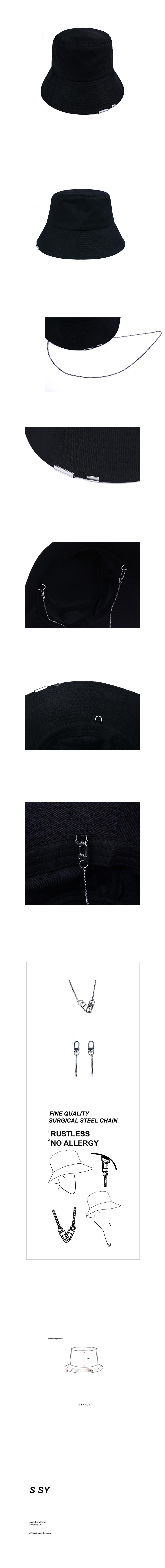 에스에스와이(SSY) [사계절]2way 체인 버킷햇 블랙