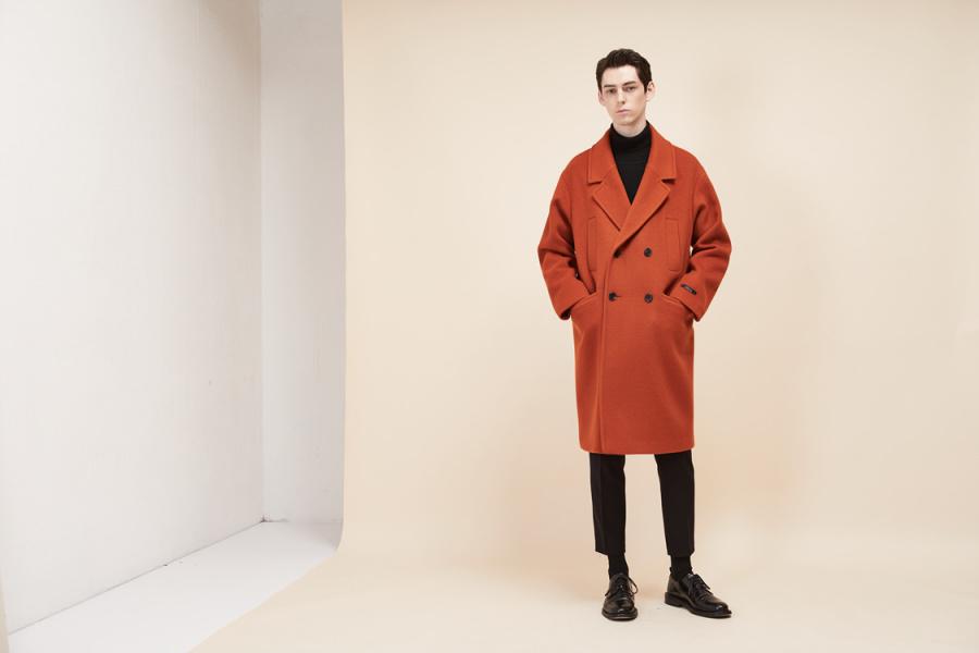룩캐스트(LOOKAST) BROWN WOOL DOUBLE COAT(MAN)