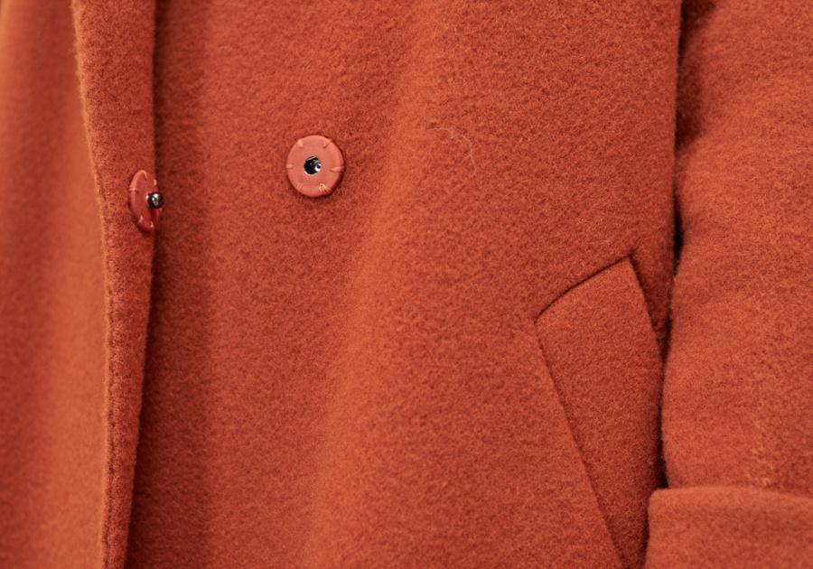 룩캐스트(LOOKAST) BROWN SLEEVE BELT HANDMADE COAT