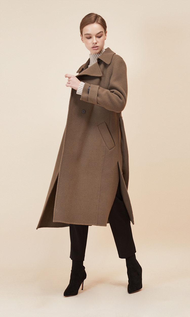 룩캐스트(LOOKAST) CACAO SLEEVE BELT HANDMADE COAT