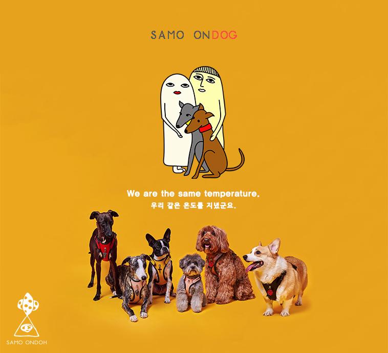 세이모 온도(SAMO ONDOH) (하네스) EASY FIT HARNESS° BROWN [SAMO ONDOG]