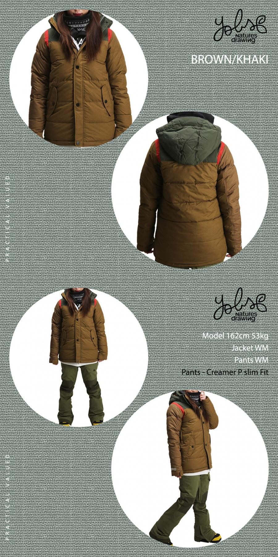 욥스(YOBS) 욥스 마이크로 패딩 여성 보드자켓 CLOVER J - BROWN/KHAKI