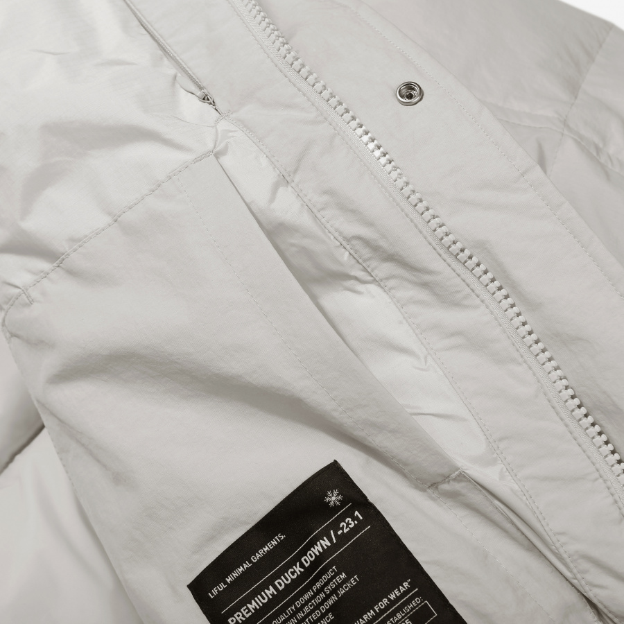 라이풀(LIFUL) PHANTOM LONG DOWN PARKA oyster