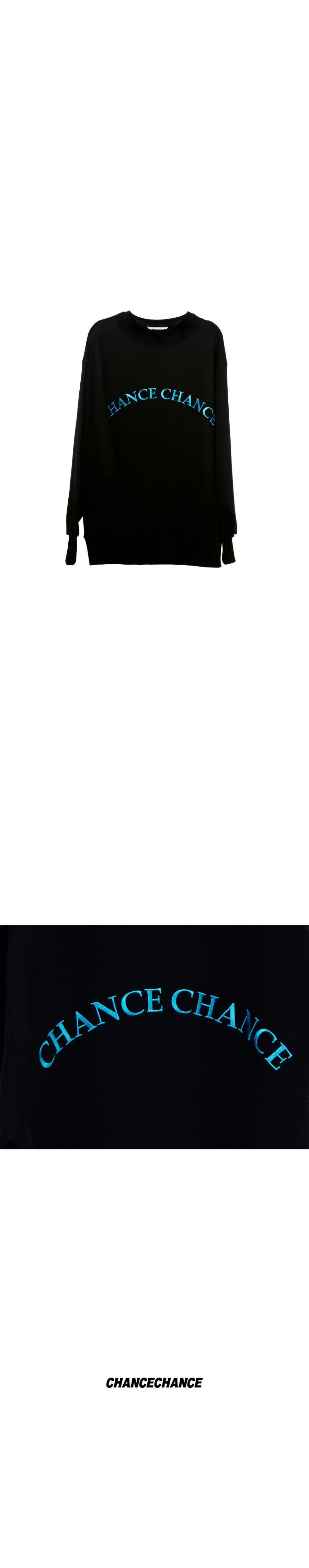 챈스챈스(CHANCECHANCE) BLACK LOGO MTM(기모없음)