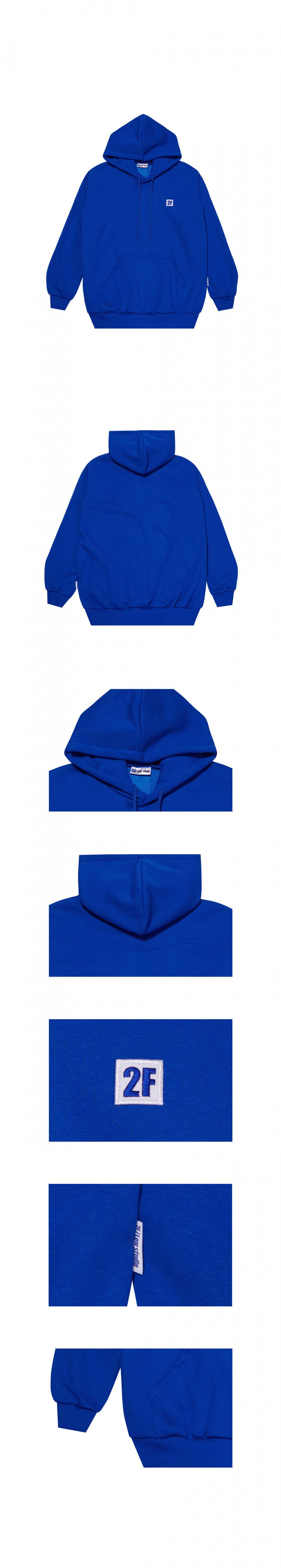 투에프로우(2FLOW) 2F logo hoodie_blue
