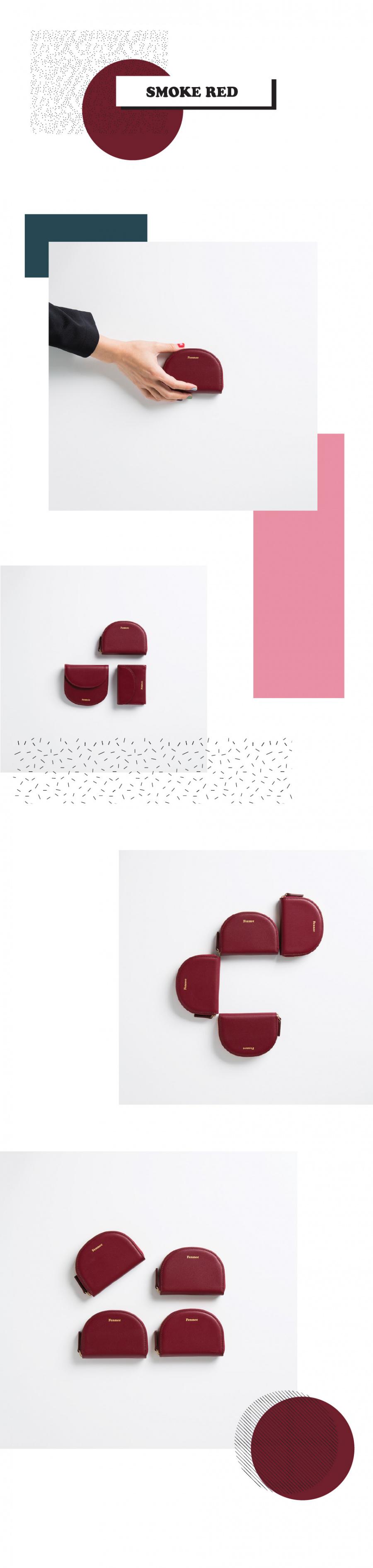 페넥(FENNEC) Halfmoon Pocket 002 Smoke Red