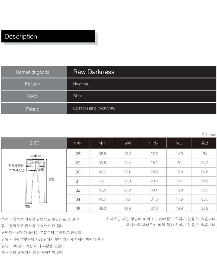 피스워커(PIECE WORKER) Raw Darkness / NewCrop