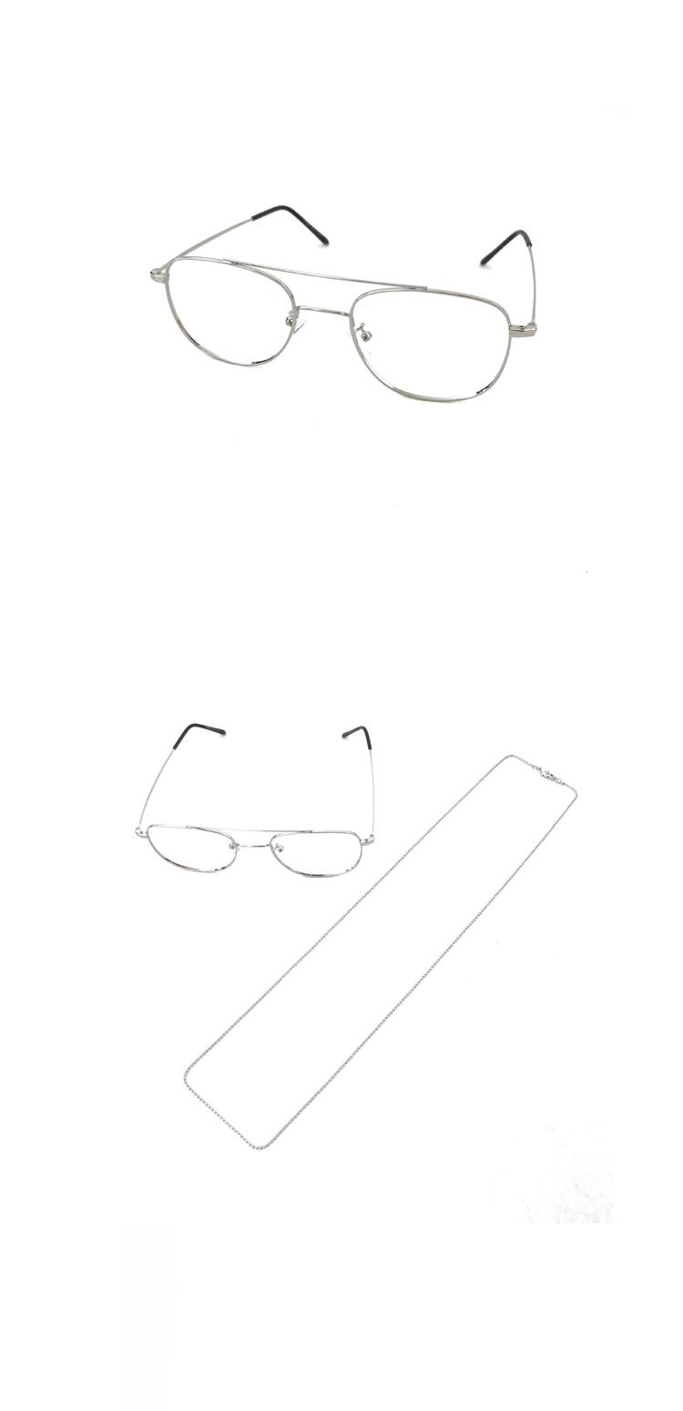 셉텐벌5(SEPTEMBER5) 빈티지 스틸 체인 안경