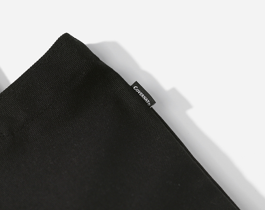 커버낫(COVERNAT) AUTHENTIC LOGO ECO BAG BLACK