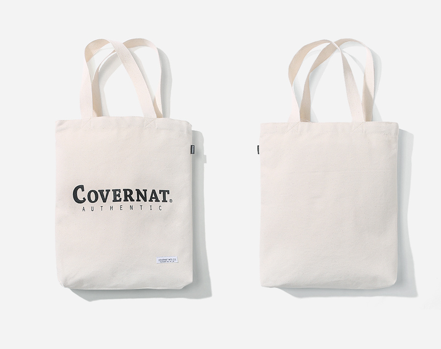 커버낫(COVERNAT) AUTHENTIC LOGO ECO BAG IVORY