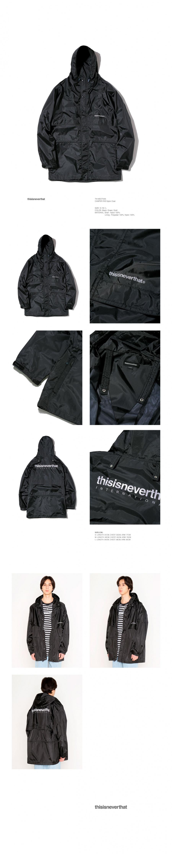 디스이즈네버댓(THISISNEVERTHAT) CAMPER R/S Nylon Coat Black
