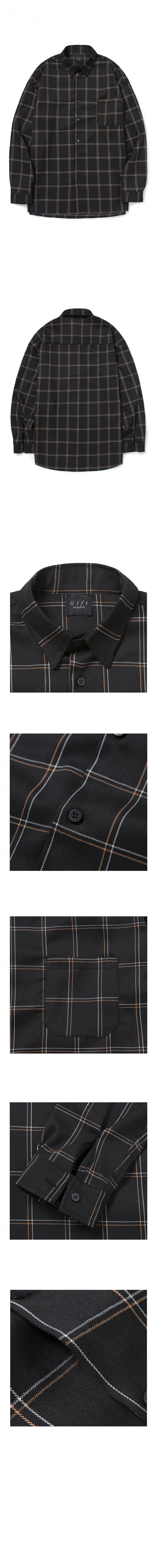 기프트오리지널(GIFTORIGINAL) (UNISEX) 아트 체크 셔츠