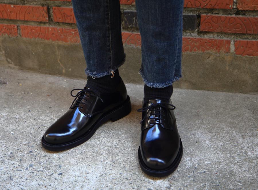 릴리즘프로덕트(RELIZMPRODUCT) RELIZMPRODUCT Us Navy Black Glossy Leather Derby