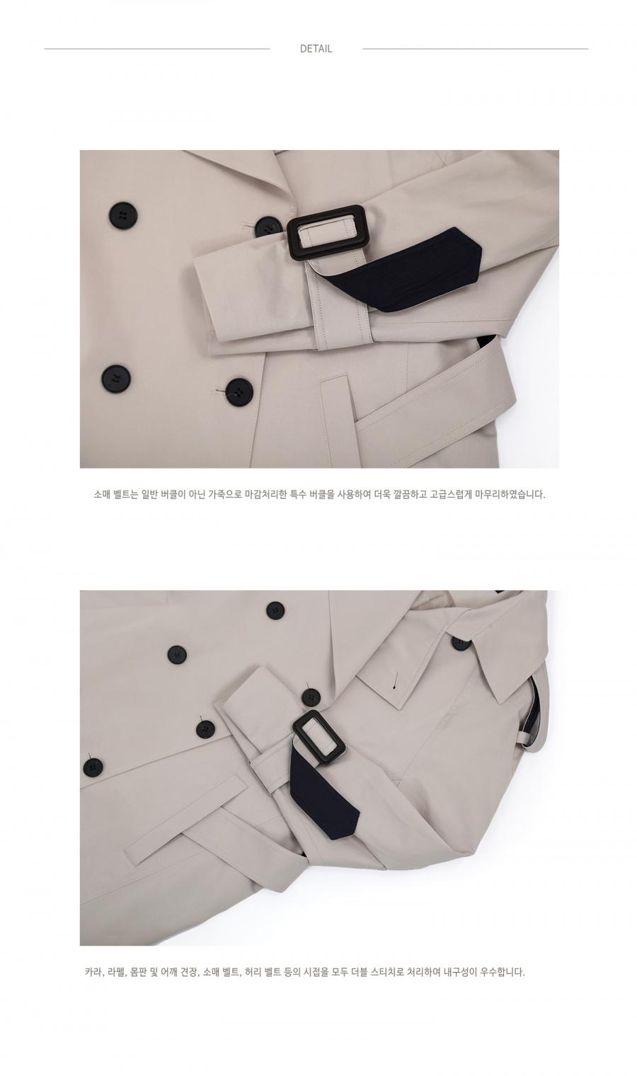 니나노사노(NINANOSANO) raglan trench coat