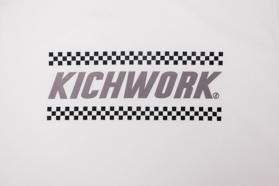 키치워크(KICHWORK) 18 SS Checkerboard LogoT_White