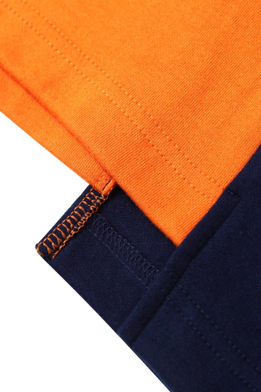 알디브이제트(RDVZ) 언발란스 블록 티셔츠 오렌지