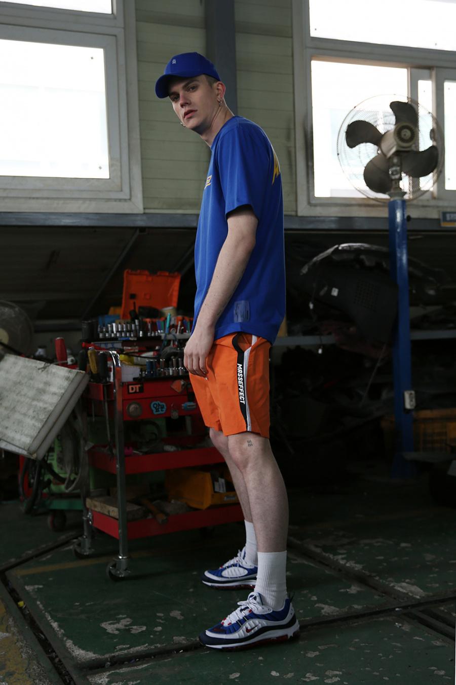 알디브이제트(RDVZ) 매스이펙트 서프 숏 팬츠 오렌지