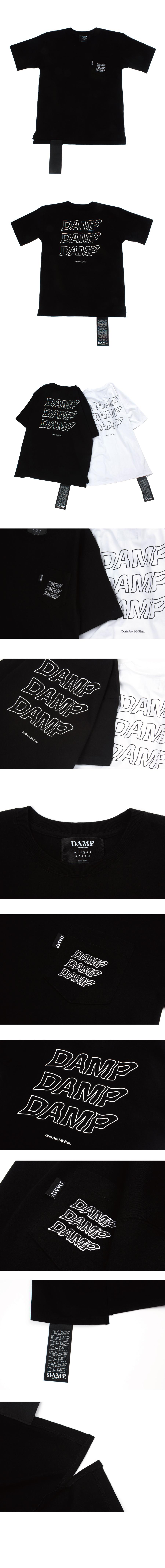 돈애스크마이플랜(DAMP) THREE STAGE LOGO TEE_BLACK
