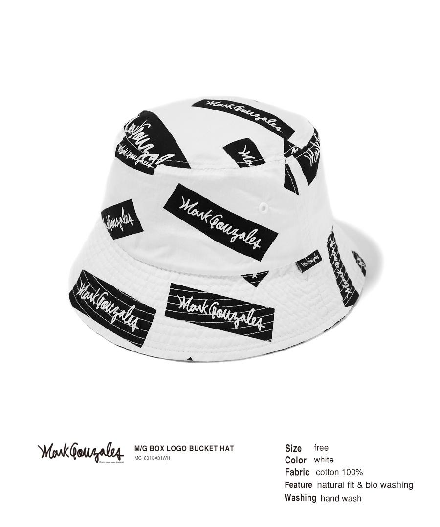 마크 곤잘레스(MARK GONZALES) M/G BOX LOGO BUCKET HAT