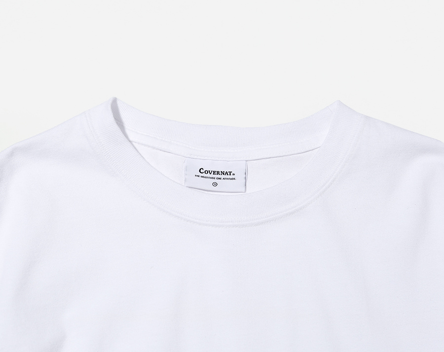 커버낫(COVERNAT) S/S AUTHENTIC LOGO TEE WHITE