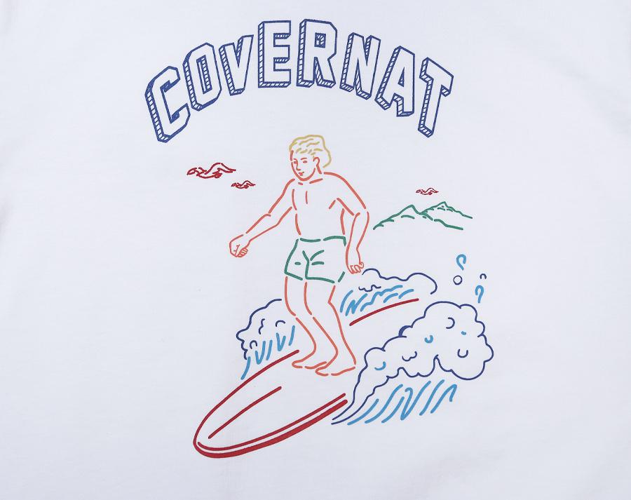 커버낫(COVERNAT) S/S SURFER MAN TEE WHITE
