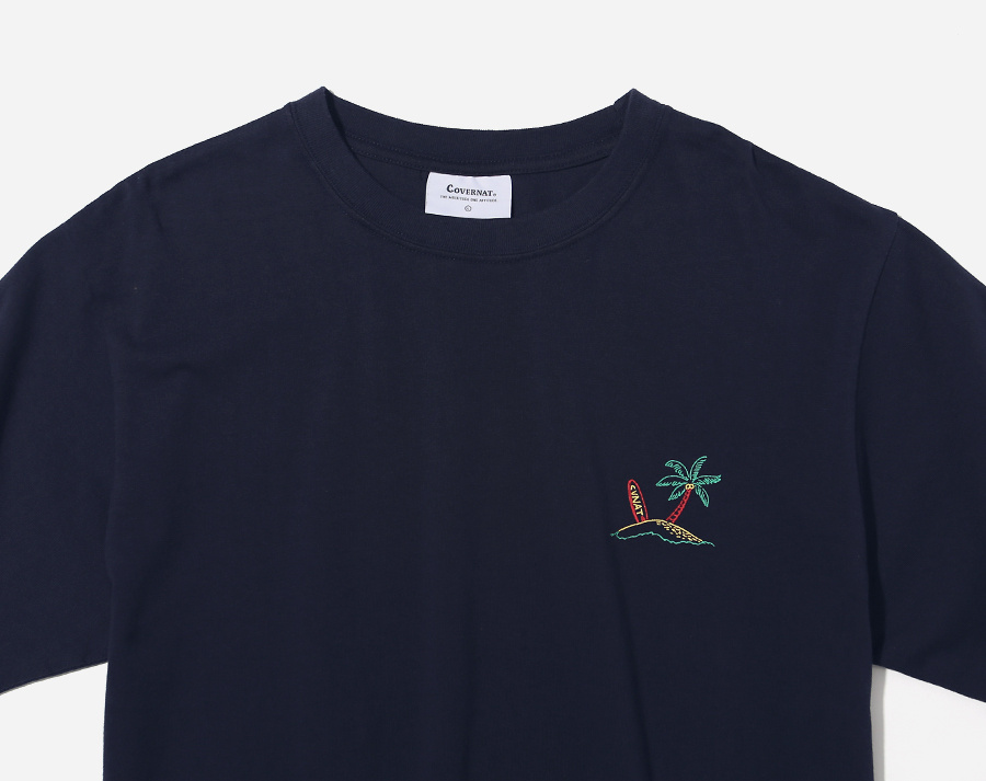 커버낫(COVERNAT) S/S SURFER MAN TEE NAVY