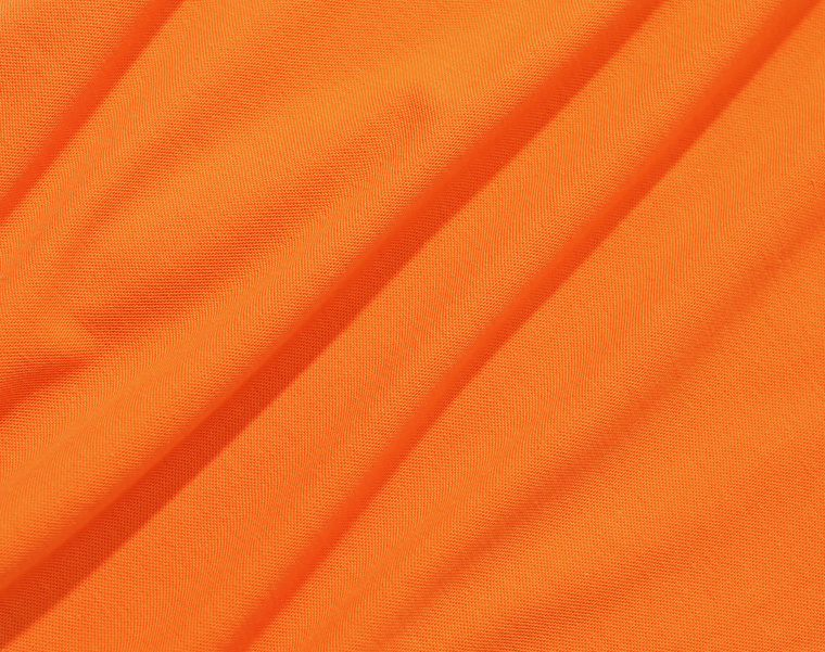 프룻오브더룸(FRUIT OF THE LOOM) [Asian fit] WAPPEN POLO T-SHIRTS ORANGE