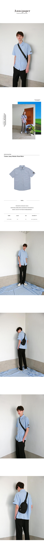앤즈페이퍼(ANNSPAPER) 유니섹스 스티치 포인트 셔츠  스카이