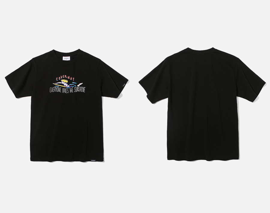 커버낫(COVERNAT) S/S SURFER GIRL TEE BLACK