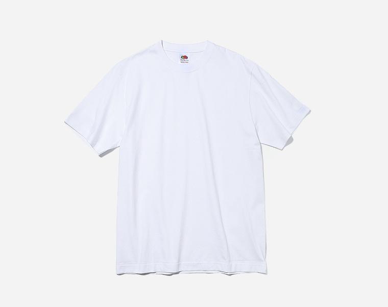 프룻오브더룸(FRUIT OF THE LOOM) [Asian fit] 210g 3PACK T-SHIRTS WHITE